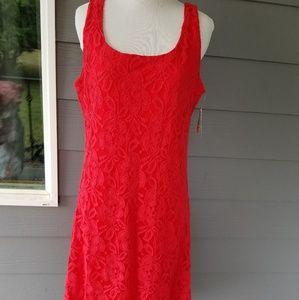 Halo red dress